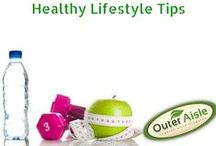 Healthy Lifestyle Tips / Tips to living a healthy lifestyle the Outer Aisle Way by incorporating a healthy amount of exercise! Here are a few fitness tips and tricks!