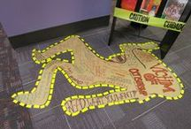 Library Bulletin Boards and Displays / Here are some of the book displays and bulletin boards that can be found in our branches.