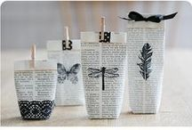Book Crafts / Don't throw out that old, musty, damaged book - create something new, beautiful, and useful!