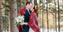 Winter Weddings / Warm & Cozy, Flannel & Lace, Candles & Wood