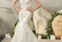 Mermaid Styles / Mermaid, fitted, curvy, form hugging wedding dress styles.