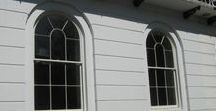 Bespoke Wooden Windows / Joinery that we've made for our clients in our Nottinghamshire workshop ~~~  www.merrinjonery.com ~~~  Merrin Joinery design and make windows for listed buildings and period properties