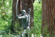 Sherwood Forest.  / Our local heritage: Robin Hood, Sherwood Forest, Nottinghamshire UK