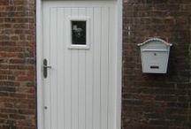 Front Door / Traditional doors, modern doors. oak doors, bespoke doors, heritage doors......Love your home and want to enhance it? We'd be happy to make you a hardwood door inspired by any of these ideas. www.merrinjoinery.com