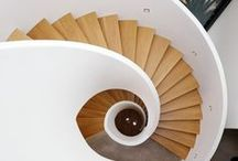 Feature Staircase Inspiration / Love your home and want to enhance it? We'd be happy to make you a staircase inspired by any of these spiral, circular and spectacular staircases. www.merrinjoinery.com