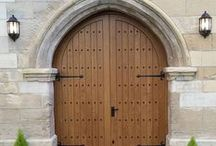 Arched Doors / Love your home and want to enhance it? We'd be happy to make you a hardwood door inspired by any of these ideas. www.merrinjoinery.com