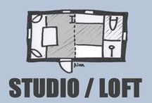 TINY House Blueprints Studio/Loft / Floor plan ideas for studios with/without lofts. Functional floor plans and inspirational solutions. Look also my other Tiny House boards.