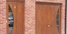 Contemporary Oak Doors / Modern Oak door, funky oak door, cutting edge oak door.....Love your home and want to enhance it? We'd be happy to make you a modern oak door inspired by any of these ideas. Bespoke joinery is made to any shape and style. www.merrinjoinery.com