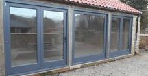 Bi-Fold Doors / Bi fold doors, Bifold doors, Bi-fold doors, bi-folding doors, concertina doors.   Whatever you like to call them, we would be happy to make you hardwood doors inspired by any of these ideas. www.merrinjoinery.com