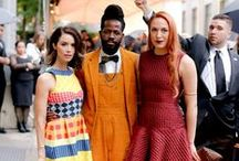CFDA Awards 2015 - Malone Souliers / Malone Souliers Founders Roy Luwolt and Mary Alice Malone Jr. accompany actress Abigail Spencer to the Council of Fashion Designers of America @CFDA Awards, June 1 2015, Lincoln Center, New York City.