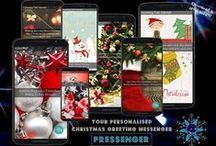 Christmas Greetings / Make no worries about your Xmas Greetings - we have the perfect solution. Download Pressenger App & Send personalized IMAGE MESSAGES directly to your loved ones' smartphones. Be original SEND SMARTPHONE XMAS GREETINGS THIS SEASON! ;-)