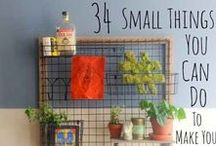 Home Hacks and Decoration ideas / The place for IKEA hacks, home hacks and very cool ideas to make your house a home! Hanging pictures to bookcase and shelf organization!