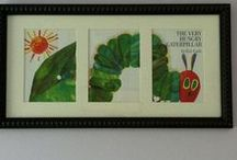 Framing and Displaying Pictures and Art / Lots of ideas for what to display and how to do it. From dust jackets to children's artwork, here I save some of the things I want to try to make our house a home!