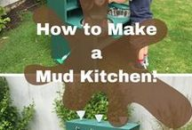 How to Build a Mud Kitchen / Ideas and inspiration for mud kitchens and water play