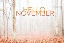 November - von draußen nach drinnen / Was im November passiert