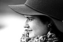 Марина / Девушка осень шляпка чб