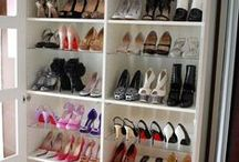Organized Closets + More / Dream Closets, Shoe Organization + Other Clever Organizing Ideas for Spaces In The Home