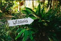 Wedding signage / We capture all the details of every wedding we shoot | Talk to us at www.whitedressproductions.com.au about designing a wedding film just for you :-)