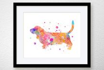 SHOP - Miao Miao Design / Pins from my shop Miao Miao Design, on Etsy. Watercolor Animal Prints, Nursery Art Prints, Inspirational Art Prints.  Archival Matte Prints, Archival Canvas Prints, Giclee Prints, Fuji Matte Prints, Pillow Covers, Printed Scarves.