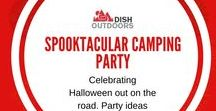 Spooktacular Camping Party / Celebrating Halloween out on the road. Party ideas galore!