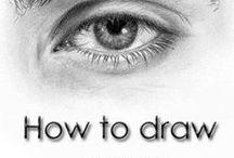 Části těla - oči, ruce, nohy, rty, uši, prsty, svaly - kresba / Kreslení a malování různými technikami