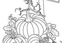 Podzim / omalovánky a jiné nápady tematicky se hodící k tomuto svátku