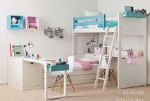 Habitaciones compartidas / Dormitorios compartidos donde se aprovecha hasta el mínimo espacio