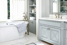 Master Bath Suite / Super cool master bath remodels #masterbath #servigonconstruction #granite #quartz