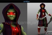 Characters Modeling / 3D Character Development Outsourcing Studio with experience 3d designer and artist for developing appealing character modelling, texturing for games, movies and TVC.