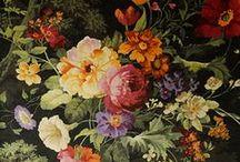 Románticas telas de flores / Telas para hacer cortinas, colchas, edredones, fundas nórdicas, cojines y tapizar.