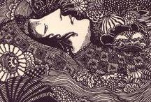 Illustration: B&W / Ink •  Woodblock •  Lithograph