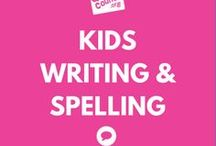 Writing & Spelling for Kids - Communication (and Literacy) / Helpful info and activities to help develop your child's writing skills, whether it's pencil holding activities, writing prompts, and more.