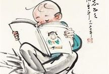 Chinese people reading / Images of Chinese people reading 中国看书人物 // 读书人物 // 儿童读书 // 读书图 (至乐无如读书 = Reading is the greatest pleasure / There's nothing like a good book)