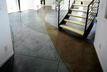 Stained Concrete / Add color to concrete surfaces with stained concrete techniques.  For more on stained concrete, go to http://www.concretenetwork.com/stained-concrete/.