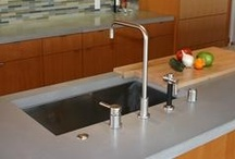 Concrete Countertops / Concrete countertops are great for kitchens, vanities, office spaces, outdoor kitchens and more.  For more information, go to http://www.concretenetwork.com/concrete/countertops/.