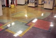 Polished Concrete / For sleek, high-gloss finished floors, explore polished concrete.  For more information, go to http://www.concretenetwork.com/concrete/polishing/.