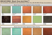 Acid Stain Color Charts / Explore your concrete coloring options.  Here is a collection of popular concrete color charts for acid stains.  For more information on acid-based stains, visit http://www.concretenetwork.com/products-stains/.