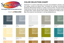 Water-Based Concrete Stain Color Charts