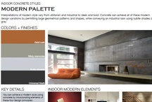 Modern Indoor Concrete Styles / Browse through indoor concrete styles that feature a modern palette.  From utilitarian and industrial to sleek and bold looks, find the right style for you.  View all indoor concrete styles at http://www.concretenetwork.com/indoor/