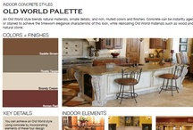 Old World Indoor Concrete Styles / Browse through indoor concrete styles that feature Old World designs.  Designs blend natural materials with ornate details and finishes.  View all indoor concrete styles at http://www.concretenetwork.com/indoor/