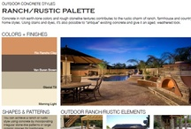 Ranch/Rustic Outdoor Concrete Styles / Browse through outdoor concrete styles that feature ranch and rustic palettes.  Designs feature rich earth-tone colors and rough stone-like textures.  Find the right style for you; view all outdoor concrete styles at http://www.concretenetwork.com/outdoor