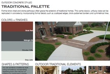 Traditional Outdoor Concrete Styles / Browse through outdoor concrete styles that feature traditional design palettes.  Traditional designs often feature formal brick and stone elements, making it a classic, unfussy style.  View all outdoor concrete styles at http://www.concretenetwork.com/outdoor