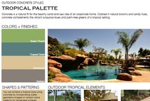 Tropical Outdoor Concrete Styles / Browse through outdoor concrete styles that feature tropical palettes.  Designs feature concrete in natural browns and sandy hues that complement tropical settings.  Find the right style for you; view all outdoor concrete styles at http://www.concretenetwork.com/outdoor