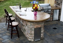 Outdoor Kitchens / Outdoor kitchens bring cooking and entertaining outside with an array of amenities.  For design ideas and more, go to http://www.concretenetwork.com/outdoor-kitchens/.