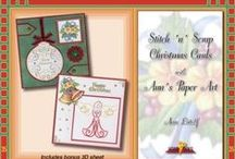 Hobbydols 35 / Christmas Stitching Book by Ann's Paper Art. Includes 8 Christmas stitching patterns, samples and stitching instructions in English.