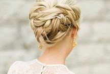 Wedding Hairstyles / Choosing between wedding updos, loose and wavy, a boho braid, a messy bun, sleek and straight, or some some retro waves? We've got them all. And more.  / by BRIDES