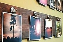 Displays / Frame cluster ideas for framing art/photos.