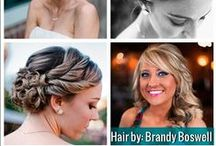 Posh Bridal Hair Portfolio / Here are some shots of the bridal work our stylists have done in the past! We'd love to do any of your trial runs to help you find the perfect look for your wedding day!