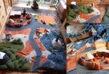 play mats, speelkleden,quiet books,stoffen boekjes. / by Helma Cavalini