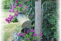 Garden Art / Backyard and garden art including found objects, recycled art, sculpture, mobiles, and murals.